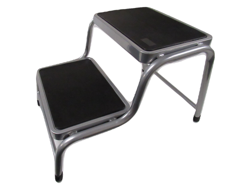 Anti Slip Caravan Double Steel Step - Lightweight Rubber Motorhome Stool